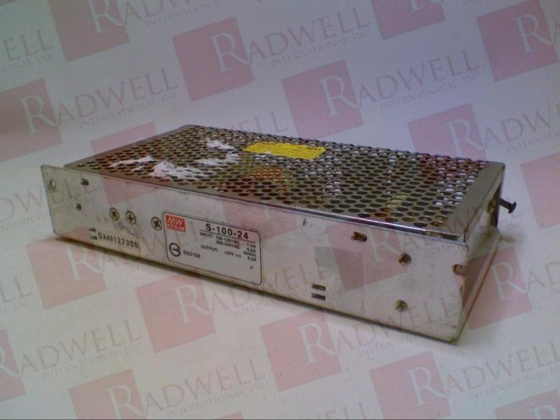 24VDC Switching 4.5AMP MEAN WELL S-100-24 100W Power Supply