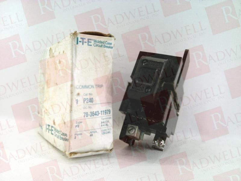 WARRANTY ITE P240 40 Amp 2 Pole 240 Volt Pushmatic Circuit Breaker