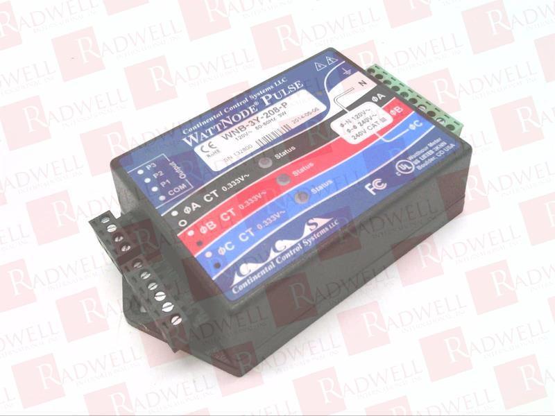 CONTINENTAL CONTROL SYSTEMS WNB-3Y-208-P