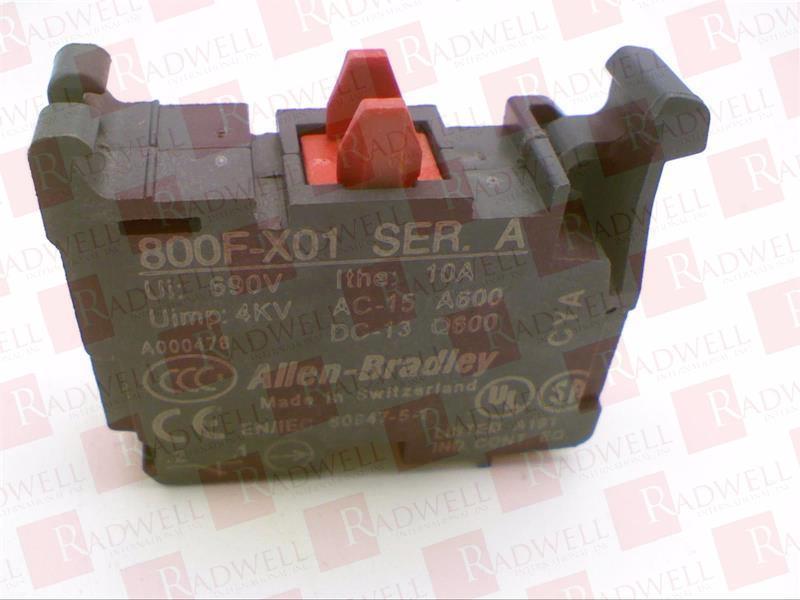 ALLEN BRADLEY 800F-X01 1