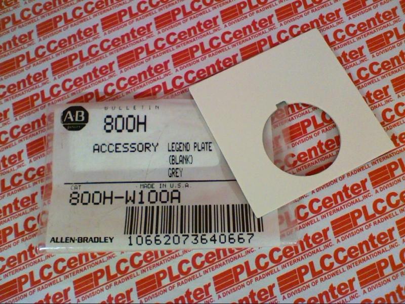 ALLEN BRADLEY 800H-W100A