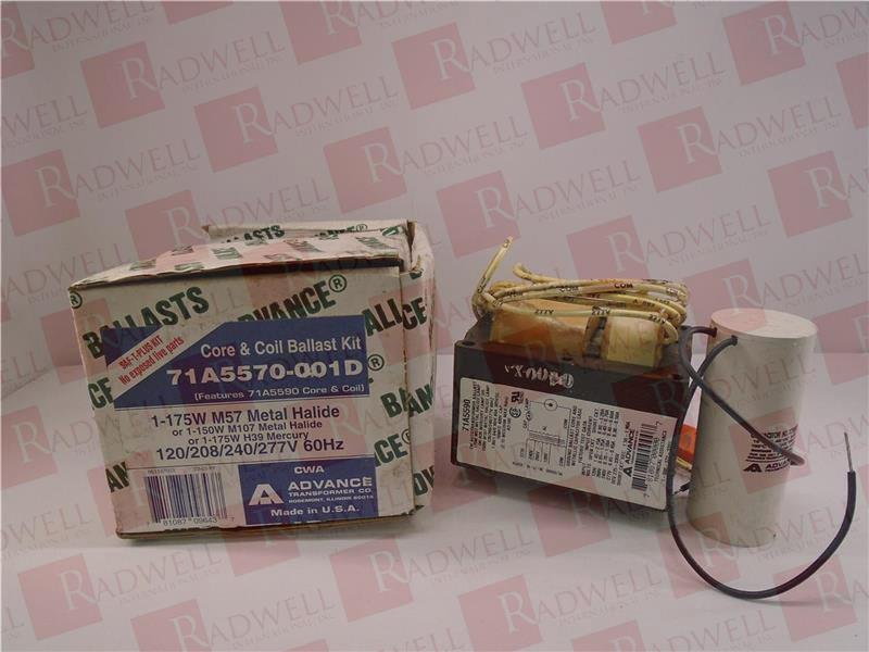 Philips Advance Core /& Coil ballast Kit 1-175W M57 Metal Halide 71A5570-001D