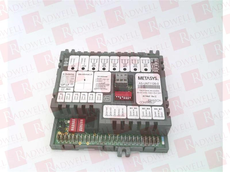 AS-UNT111-0 Unitary  Johnson Controls 6 binary outputs 2 analog outputs 6