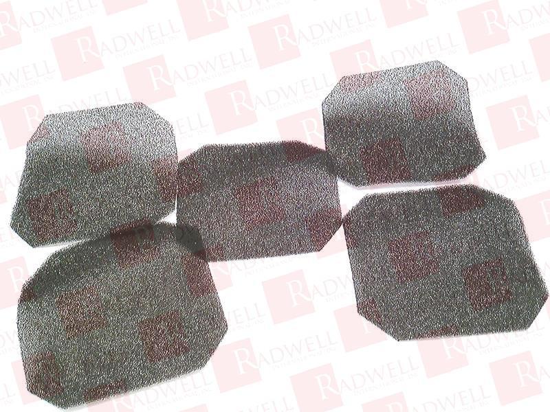 4.5X4.5 AXIAL Fan Filter DAYTON 4YD84 5 Pack
