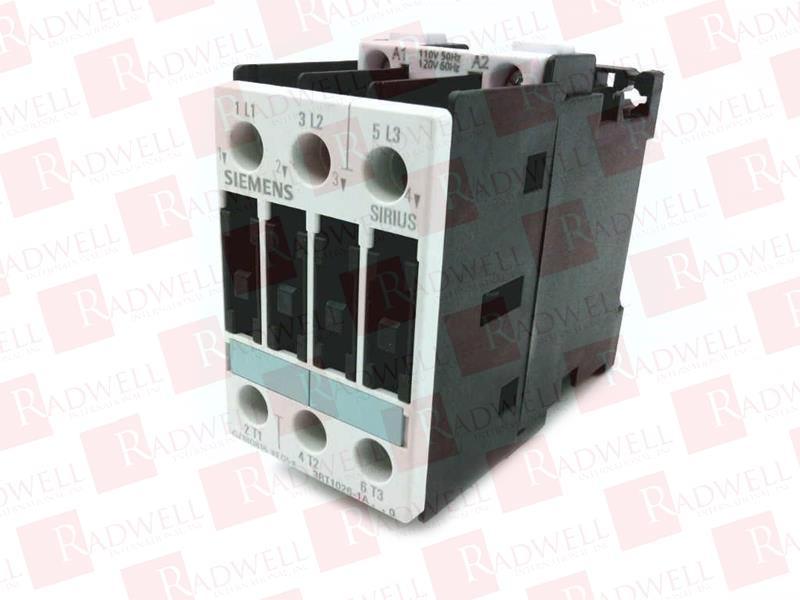 Siemens 3rt1026-1ak60 IEC Contactor Sirius NEMA 1 120vac for sale online