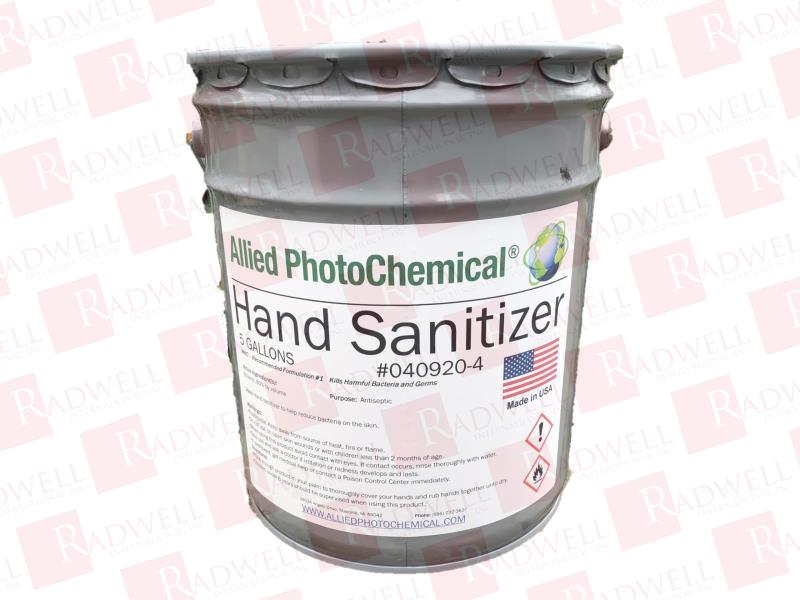 ALLIED PHOTOCHEMICAL HAND SANITIZER - 5 GALLON