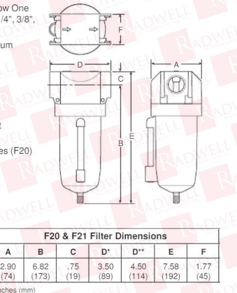 PARKER F20-00WJ/M1 1