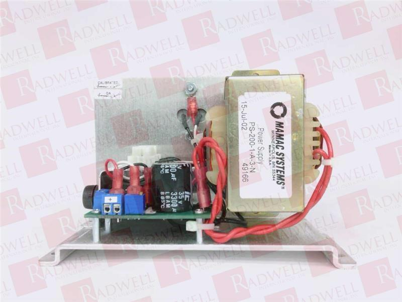New PS-200-1-A-1-N Mamac Systems Power Supply --
