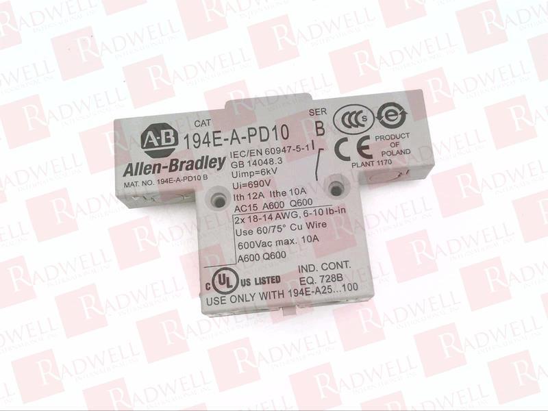 ALLEN BRADLEY 194E-A-PD10 0