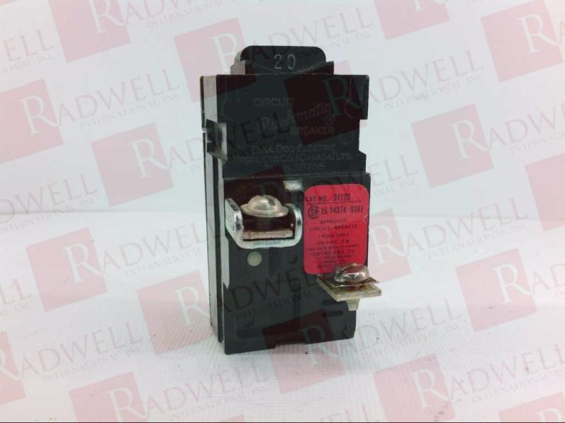 Pushmatic 20 Amp 1 Pole 31120 Tested Bulldog 120//240V Circuit Breaker Used