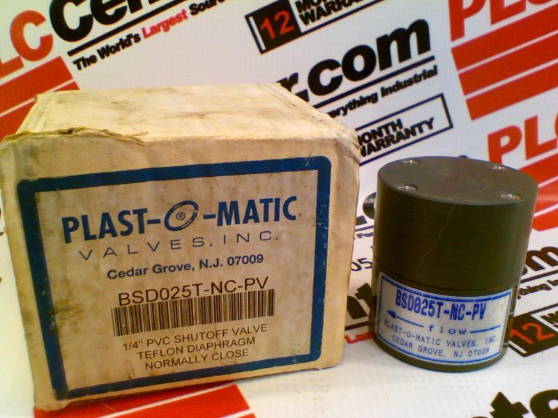 PLASTOMATIC VALVES BSDO25T-NC-PV