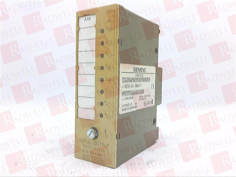 Siemens 6ES5 441-8MA11 Simatic S5 Digital Output 8 Point Used
