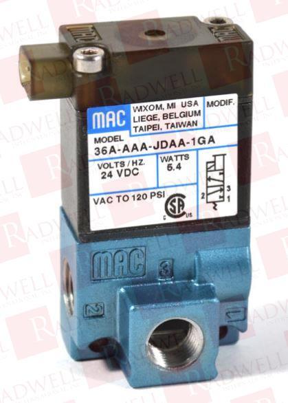 MAC VALVES INC 36A-AAA-JDA0-4KJ