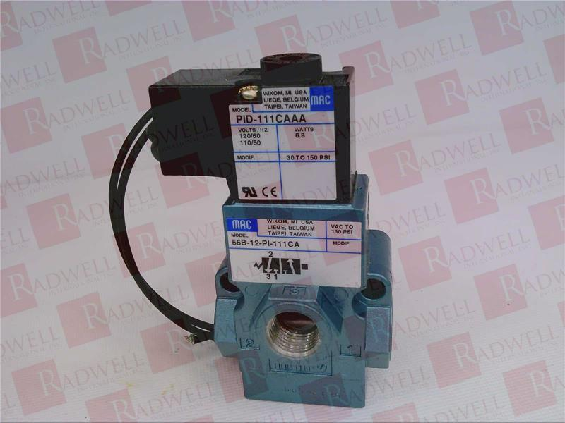 MAC VALVES INC 55B-12-PI-111CA 2
