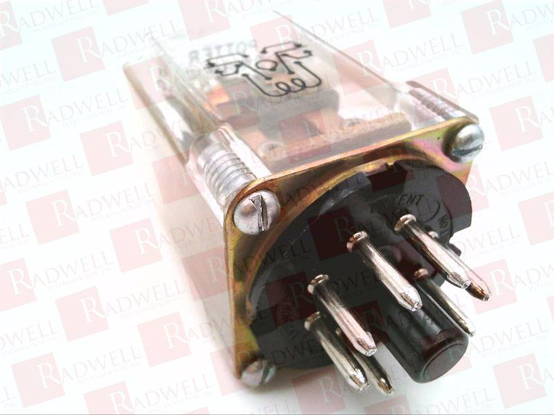 10A 240VAC TE CONNECTIVITY // POTTER /& BRUMFIELD KRP-11AG-240 POWER RELAY DPDT PLUG IN