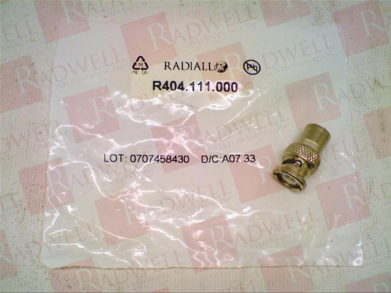 RADIALL RF CONNECTORS R404.111.000