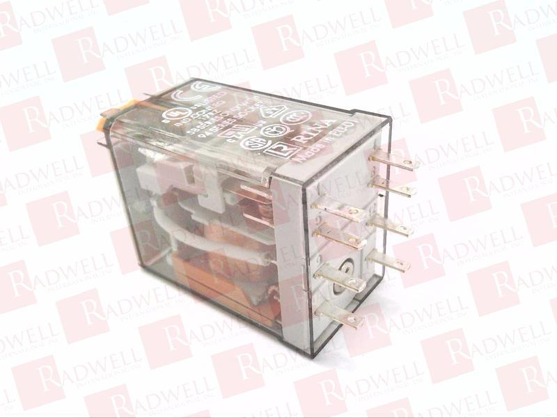 AgNi contact 120V AC coil DPDT 10A 55.32.8.120.0040 Finder Plug-In Relay