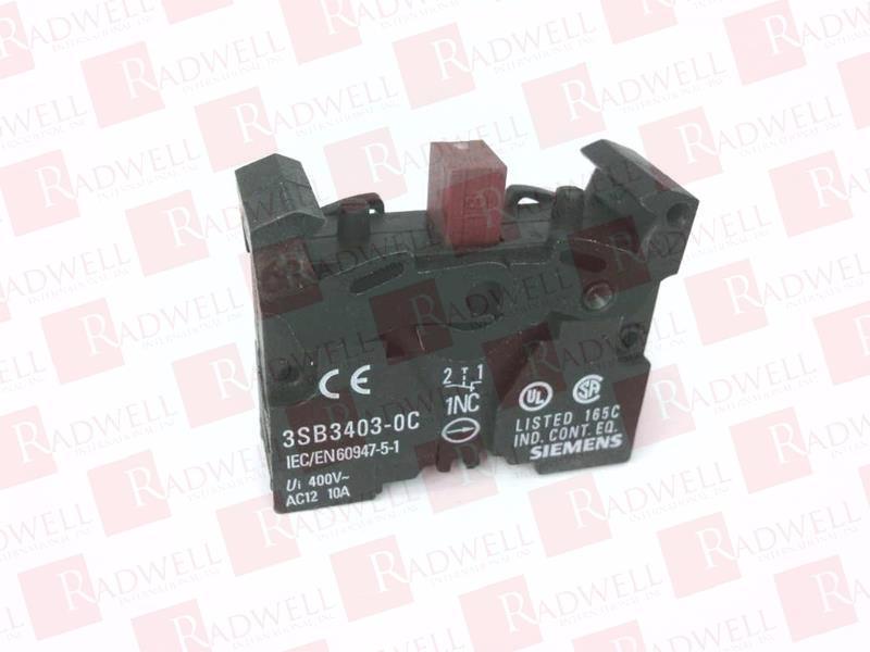 1pc    Siemens  3SB3403-0B  Contact  module  free shipping /&R1