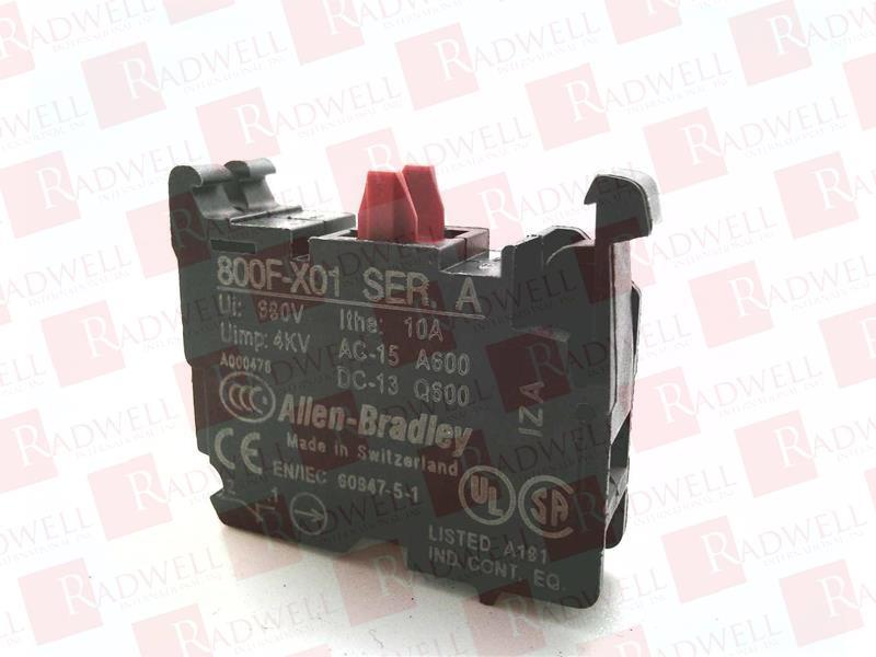 ALLEN BRADLEY 800F-X01 0