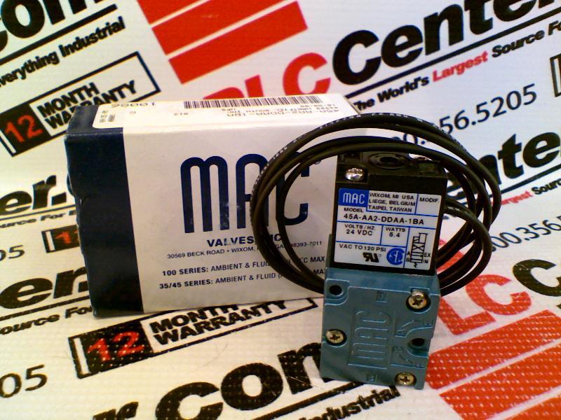 MAC VALVES INC 45A-AA2-DDAA-1BA 1