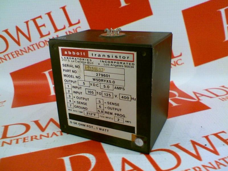 ABBOTT TECHNOLOGIES W5DRYX5.0