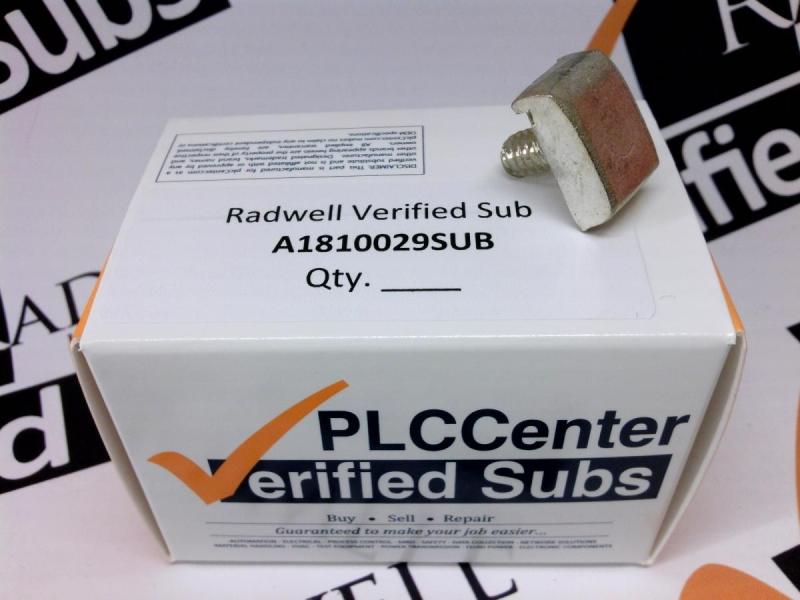 RADWELL VERIFIED SUBSTITUTE A1810029SUB