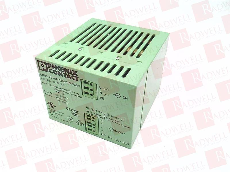 PHOENIX CONTACT CM125-PS-120-230AC//24DC//5//F New in Box CM125PS120230AC24DC5F