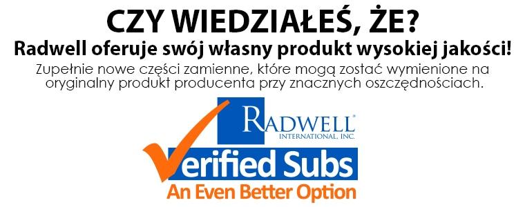 CZY WIESZ? Radwell oferuje swój własny produkt wysokiej jakości!  Produkt 'Zamiennik zweryfikowany przez Radwell' jest wysokiej jakości, nowym, funkcjonalnym zamiennikiem produktu, który może zastąpić produkt oryginalny, dając znaczną oszczędność.